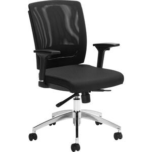 Offices To Go Granby High Back Synchro-Tilter Chair Quilt Fabric Black