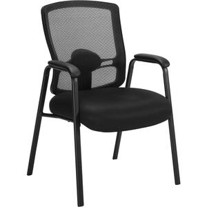 Offices To Go Regalia Guest Chair with Mesh Back and Upholstered Seat Black