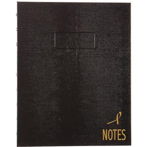 """Blueline® NotePro™ Pink Ribbon Notebook 9-1/4"""" x 7-1/4"""" 150 pgs Black"""