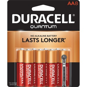 "Duracell® Quantum Alkaline Batteries w/PowerCheck ""AA"" 8/pkg"
