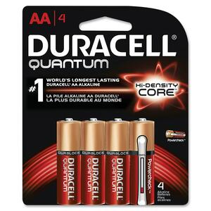 "Duracell® Quantum Alkaline Batteries with PowerCheck ""AAA"" 4/pkg"
