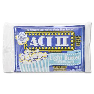 ACT II Microwave Popcorn Light Butter 3 oz. 36/box