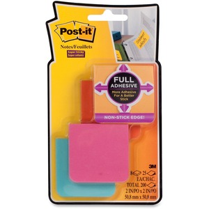 "Post-it® Super Sticky Full Adhesive Notes 2"" x 2"" 25 sheets per pad Assorted Bali Colours 8 pads/pkg"
