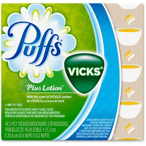 Puffs With Lotion Facial Tissue Two-ply 48 sheets/box