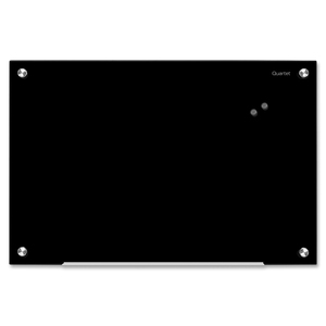 "Quartet® Infinity™ Magnetic Glass Dry-Erase Board 24"" x 36"" Black"