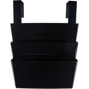 Storex® Partition Hanging Wall Files Black 3/pkg