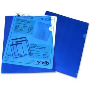 "VLB FileMode View Folders 11x8-1/2"" Blue 10/pkg"