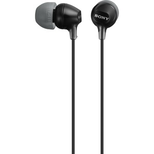 Sony Fashion Color EX Series Earbuds - Black / Mfr. no.: MDREX15LP/B