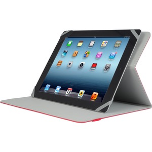 Red Slim Universal Folio Case For IPad/Tablet Up To 10.1in / Mfr. No.: Tuc20-10-Red-14n