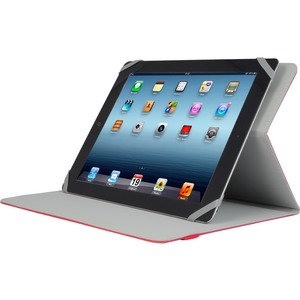Red Slim Universal Folio Case For IPad Mini/Tablet 8in / Mfr. No.: Tuc20-8-Red-14n