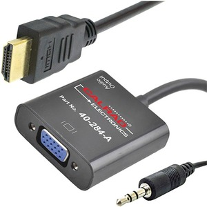 HDMI To VGA With 3.5mm Converter Dongle / Mfr. No.: 40-284a
