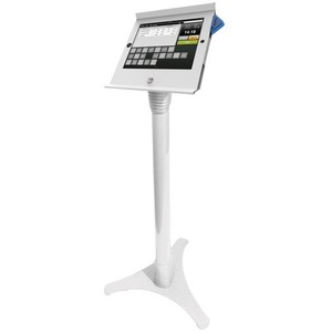 Slide IPad Pos Enclosure And Adjustable Floor Stand White / Mfr. No.: 147w225posw