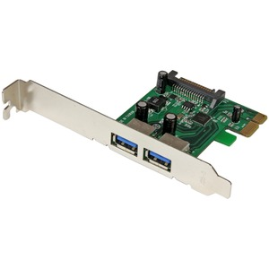 2port USB 3 PCIe Controller Card With Uasp 5gbps USB 3 Card / Mfr. No.: PexUSB3s24
