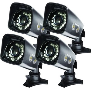 4pk Hi-Res 700tvl Cam W/75ft Nv Adv Ir Cut Filter 24awg Cable / Mfr. No.: Cam-4pk-724