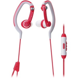 Sonicsport Hook Style In-Ear Headphone Red 3.5mm 0.6m W/ Con / Mfr. No.: Ath-Ckp200isrd