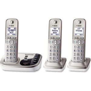 Expandable Dig Phone Cordless W/ Answering Machine 3handset S / Mfr. No.: Kx-Tgd223n