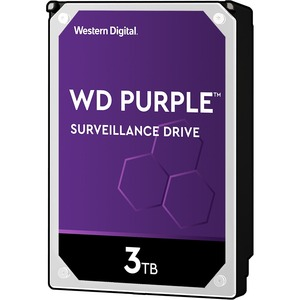 3tb Wd Purple SATA 6gb/S 64mb 3.5in Surveillance Hard Drive / Mfr. No.: Wd30purx