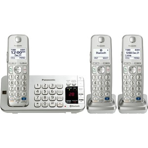 Link2cell Bluetooth Phone Cordless W/ Answering Machine 3handset / Mfr. No.: Kx-Tge273s