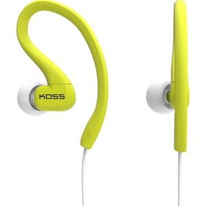 Fit Clip Headphone Lime Ultra Ligthweight Sweat Resitan / Mfr. No.: Ksc32l