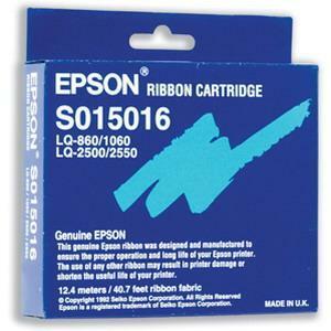 Ruban Epson Noir pour LQ670/680/pro/860/1060/2500 2500+/2550 - 2 Millions de Caractères - S015262