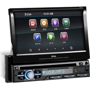 Single Din 7in Touchscreen DVD Receiver W/ USB SD Card Port / Mfr. No.: Bv9977