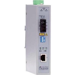 Allied Telesis 2-Port Fast Ethernet Industrial Media Converter