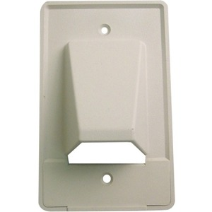 Single Gang White Scoop Style Cable Distribution Wall Plate / Mfr. No.: 28-Cer-1