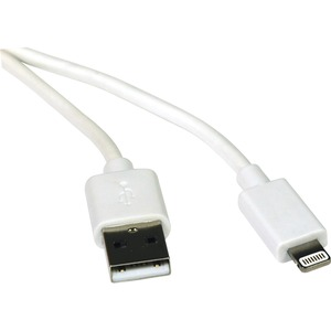 3ft Lightning To USB IPhone IPod IPad Apple Certified White / Mfr. No.: M100-003-Wh