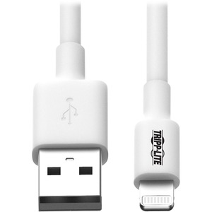 Tripp Lite 6ft USB Sync/Charge Cable with Lightning Connector - White / Mfr. No.: M100-006-WH