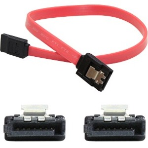 18in Latching SATA To SATA Red Cable Serial Ata Female To Fema / Mfr. No.: SATAff18in