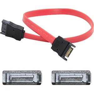 12in SATA To SATA Cable Serial Ata Cable Red Male To Male / Mfr. No.: SATAmm12in