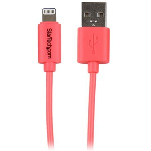 Startech 3ft 8pin Lighting Connector to USB Cable - Pink / Mfr. No.: USBLT1MPK