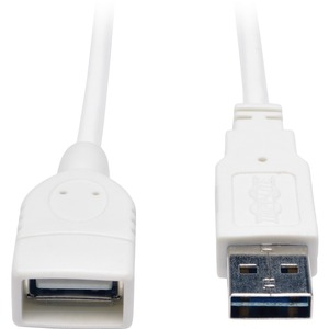 10ft Universal Reversible USB A To A M/F Wht USB2.0 / Mfr. No.: Ur024-010-Wh