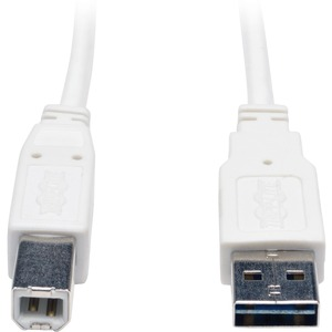 6ft Universal Reversible USB A To B M/M Wht USB2.0 / Mfr. No.: Ur022-006-Wh