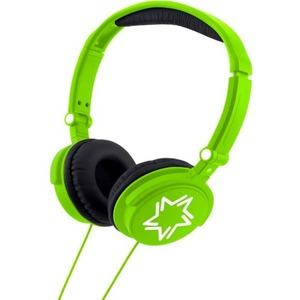 Kids Bright Green Binaural Over The Head Stereo Headphones / Mfr. No.: Hp010