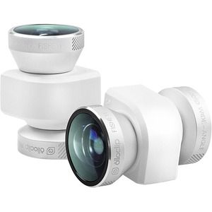 4in1 Photo Silver/White Lens For IPhone5/5s / Mfr. No.: Oceu-Iph5-Fw2m-Sw