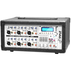 600w Bluetooth Mixer 6ch W/ Balanced Mic/Line Inputs/USB/SD / Mfr. No.: Pmx640bt