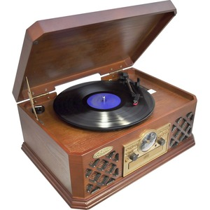 Classic Retro Style Record Player Turntable Bt Wireless Streamin / Mfr. no.: PTCD4BT