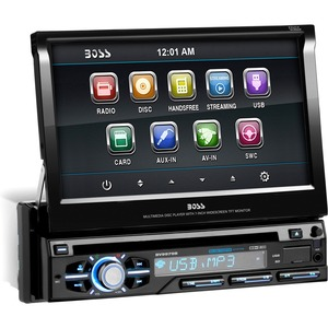Single Din 7in Touchscreen DVD Receiver Bluetooth Enabled Audio Strea / Mfr. No.: Bv9979b