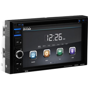 Double Din 6.2in Touchscreen DVD Receiver W/ USB SD Port / Mfr. No.: Bv9356