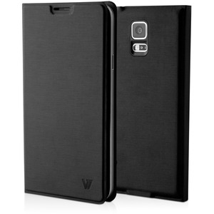 Black Ultraslim Flip Cover Phone Case For Samsung S5 / Mfr. no.: PCS-5BC-BLK-14N