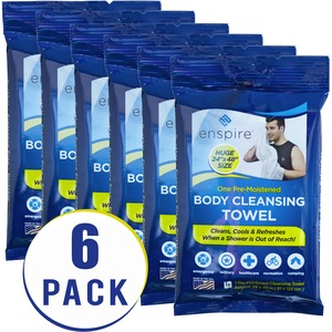 6pk Enspire Body Towel Cleansing Towels / Mfr. No.: E2x41p6