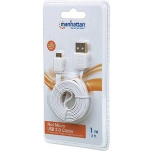 3ft 391832 USB A/Micro-B M/M Hi-Speed USB 2.0 White Cable / Mfr. No.: 391832