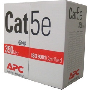 APC Cables 1000ft Cat5e UTP PVC Solid Red