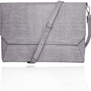 Lenox Grey Shoulder Strap Back Pocket Sleeve For 13in Laptop / Mfr. No.: Ffs13grlizardenvss