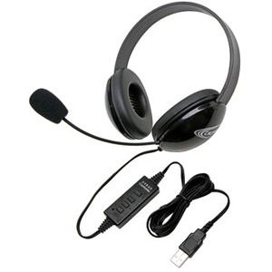 Califone Stereo Black Headphone W/ USB Plug Via Ergoguys / Mfr. No.: 2800bk-USB