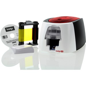 Badgy100 Color Id Card Printer Includes Ribbon 50 Cards Sw And Cab / Mfr. No.: B12u0000rs