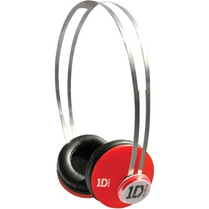 Jivo One Direction (1D) Signature Series SnapCaps On-Ear Headphones in Red