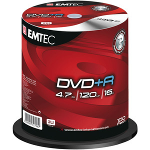 DVD+R Emtec 4.7 Go - 16x - Spindle de 100 - 360939NEW