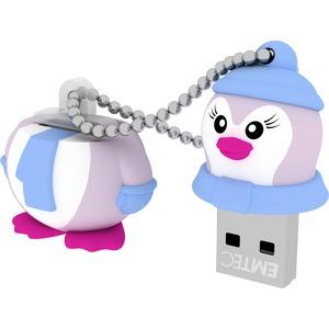 Clé USB Emtec USB2.0 M336 8GB Lady Penguin - ECMMD8GM336